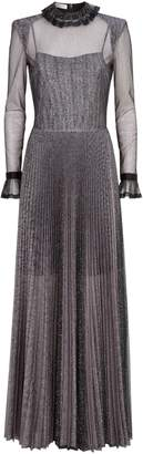 Philosophy di Lorenzo Serafini Sheer Glitter Pleated Maxi Dress
