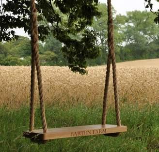 The Oak & Rope Company Personalised Large Oak Swing