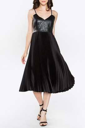 Sugar Lips Sugarlips Bustier Pleated Dress