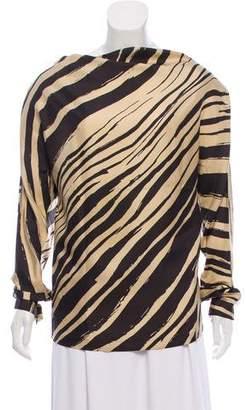 Balenciaga Long Sleeve Printed Top