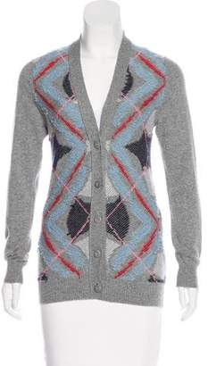 Barrie Cashmere Patterned Cardigan