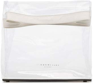 Simon Miller white and transparent lunchbag 30 PVC clutch bag