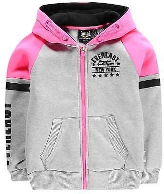 Everlast Kids Girls Zip Hoodie Hoody Hooded Top Long Sleeve Full Regular Fit