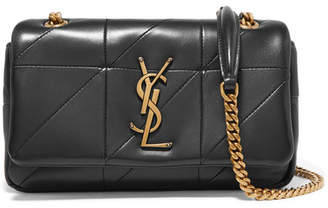 Saint Laurent Jamie Small Quilted Leather Shoulder Bag - Black