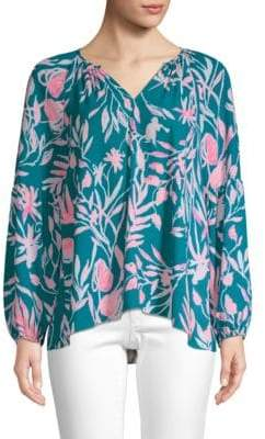 Lilly Pulitzer Charleigh Peasant Blouse