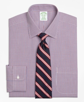 Brooks Brothers Milano Slim-Fit Dress Shirt, Non-Iron Two-Tone Check