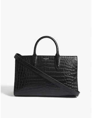 Saint Laurent Jane medium crocodile-embossed leather tote