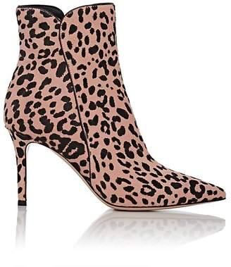 Gianvito Rossi Women's Leopard-Print Calf Hair Boots