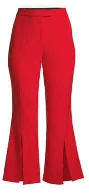 Robert Rodriguez Women's Eva Cropped Flared Trousers - Red - Size 14