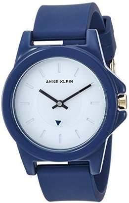 Anne Klein Women's Quartz Metal and Silicone Dress Watch