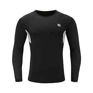 RADHYPE Men Polyester Fitted Long Sleeve Athletic Tshirt Training Top XXXL
