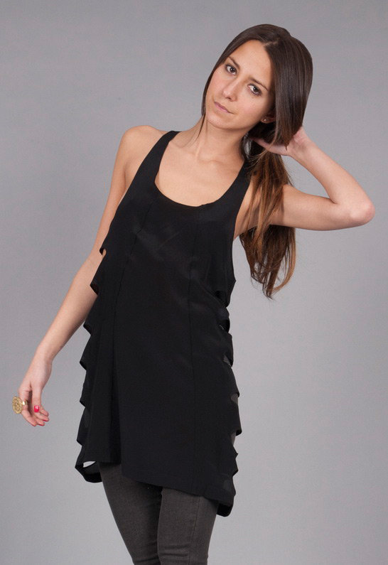 Thayer Spice Racer Dress in Black