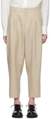 Comme des Garcons Homme Deux Homme Deux Beige Linen Trousers