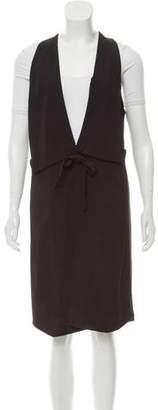 Halston Wool-Blend Longline Vest
