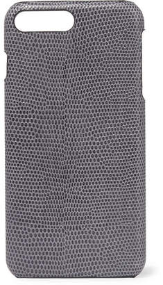 Factory The Case Lizard-effect Leather Iphone 7 And 8 Plus Case - Gray
