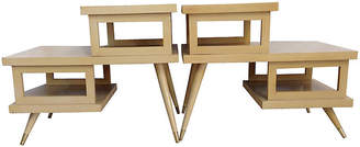 One Kings Lane Vintage Midcentury 3-Tier Side Tables - Set of 2