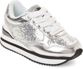 Diesel Infants Girls) Silver Glitter Sneakers
