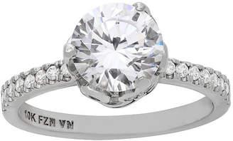 FINE JEWELRY Diamonart Womens 3 1/2 CT. T.W. Lab Created White Cubic Zirconia 10K Gold Engagement Ring