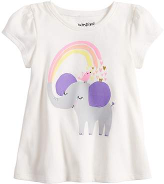 Baby Girl Jumping Beans Short-Sleeve Graphic Swing Top