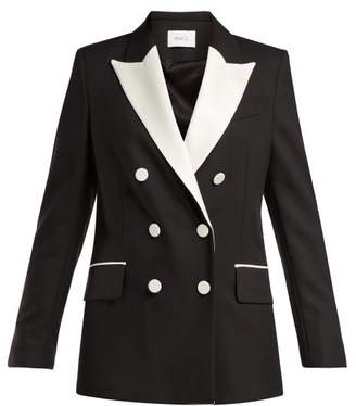 Racil - Audrey Double Breasted Wool Blazer - Womens - Black White