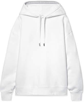 Acne Studios Yala Oversized Intarsia-trimmed Cotton-jersey Hoodie