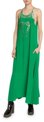 Stella McCartney Silk Macrame-Front Slip Dress
