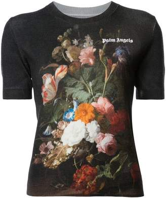 Palm Angels floral knitted top