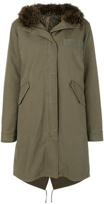 Yves Salomon Army fur-trim parka coat