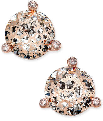 Kate Spade Rose Gold-Tone Crystal and Stone Stud Earrings