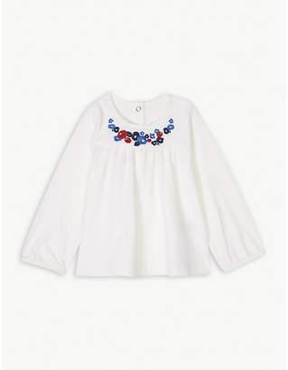 Petit Bateau Floral cotton T-shirt 3-36 months