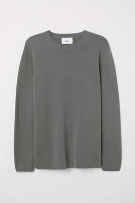 H&M Fine-knit Silk-blend Shirt - Green