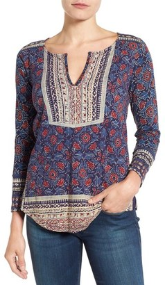 Lucky Brand Floral Woodblock Print Top $49.50 thestylecure.com