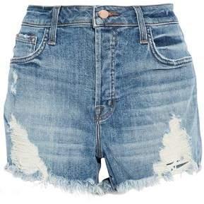 J Brand Distressed Faded Denim Shorts