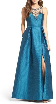 Women's Adrianna Papell Beaded Bodice Gown $279 thestylecure.com