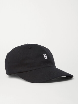 Norse Projects Logo-Embroidered Cotton-Twill Baseball Cap - Men - Black