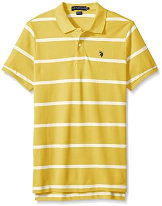 U.S. Polo Assn. Men's Classic Fit Stripe Short Sleeve Pique Shirt