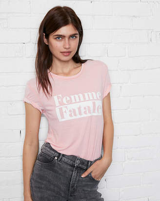Express One Eleven Femme Fatale Graphic Tee