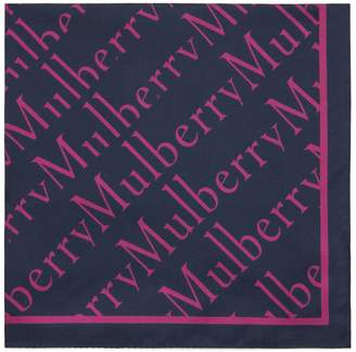 Mulberry Degrade Square Midnight Silk Twill