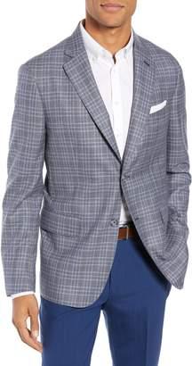 John W. Nordstrom R) Classic Fit Plaid Wool Sport Coat