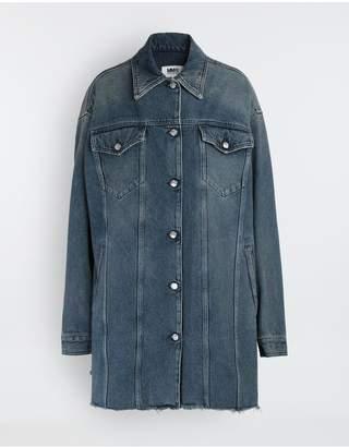 MM6 MAISON MARGIELA Oversized Highlighter-Treated Denim Jacket