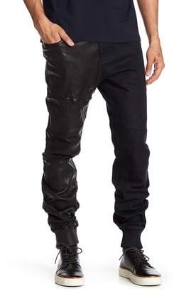 Daniel Won Harvey Denim & Genuine Leather Jogger $595 thestylecure.com