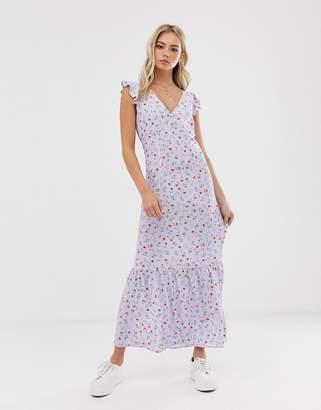 Pimkie floral print midi dress in lilac