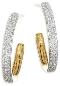 Monica Vinader Fiji Large Gold Hoop Earrings