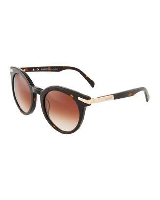 Balmain Round Acetate Gradient Sunglasses
