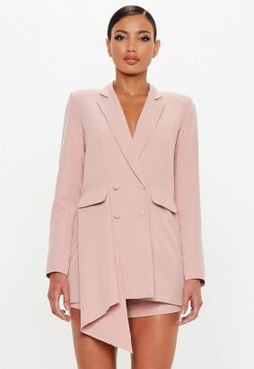 Missguided Rose Tuxedo Blazer Playsuit