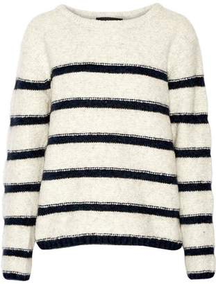 Line Striped Pullover Sweater