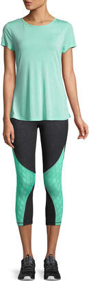 The Balance Collection Ella Mesh-Calf Colorblock Capri Leggings