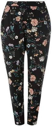 Dorothy Perkins Womens **DP Curve Black Dark Floral Print Joggers- Best Wholesale Cheap Price Free Shipping Inexpensive Quality Free Shipping H0YYQnsSBp