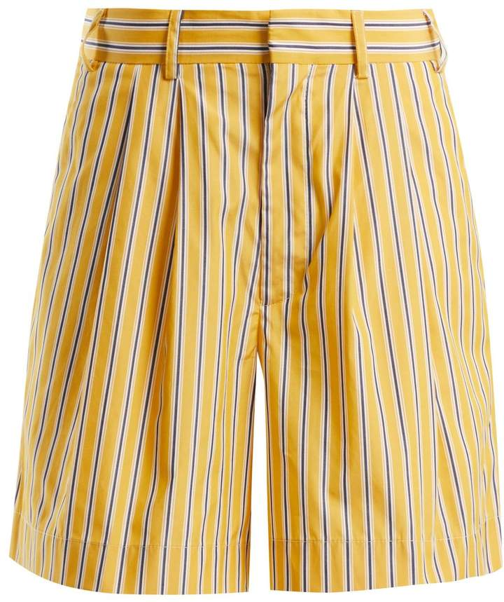RAEY Deck Chair striped-cotton shorts