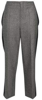 Brunello Cucinelli Cropped Houndstooth Wool Straight-Leg Pants